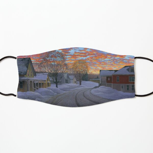 """Sunrise in the Center"" by Reed Prescott Kids Mask"