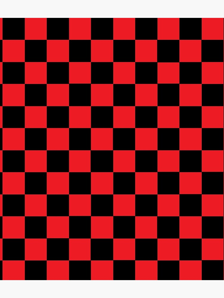 Checkered Red and Black   by lornakay