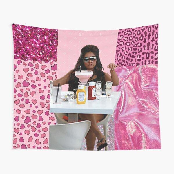 Snooki y2k pink drink big mood Tapestry