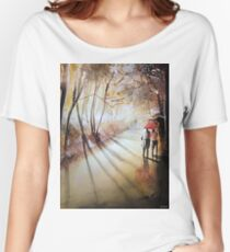 Break in the clouds - Watercolor Women's Relaxed Fit T-Shirt