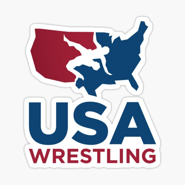 USA Wrestling logo Sticker