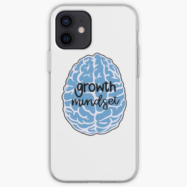 growth mindset blue brain iPhone Soft Case