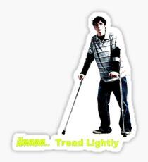 Walt Jr - Tread lightly - Large Sticker
