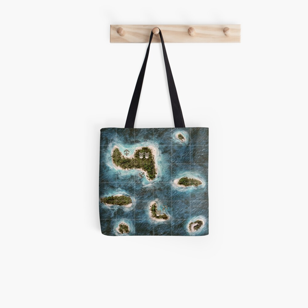 Plunder A Pirate's Life Board Game Map Tote Bag