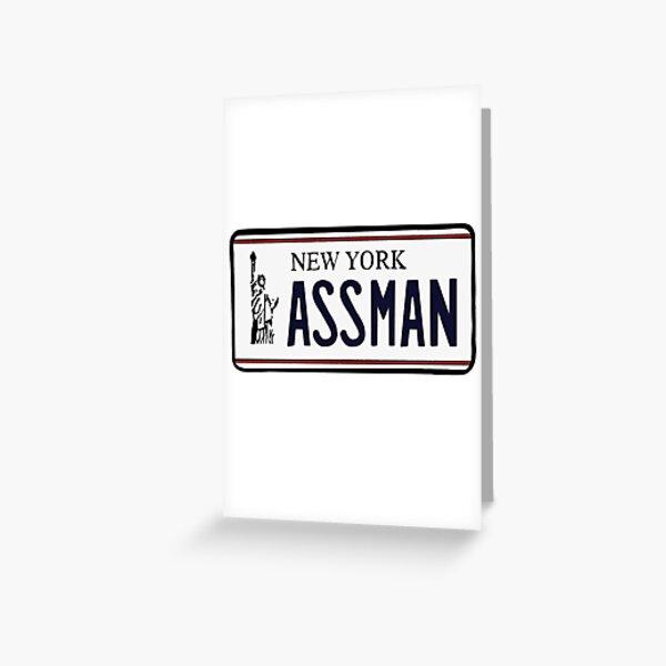 AssMan license plate Greeting Card