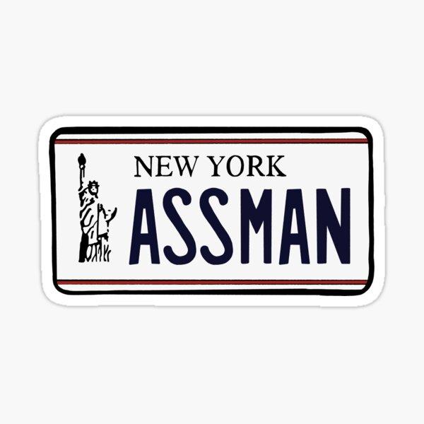 AssMan license plate Sticker