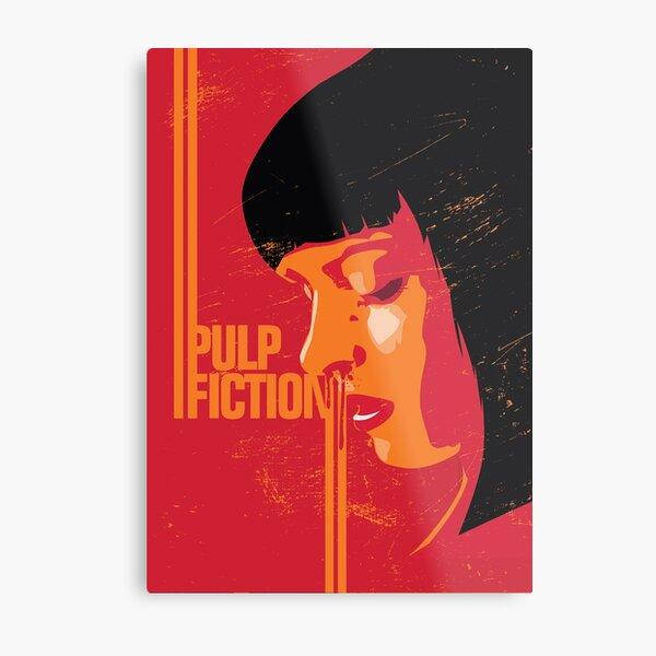 Pulp Fiction Alternative Movie Poster Metal Print