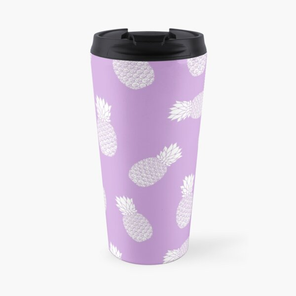 Purple Pineapple Pattern Travel Mug