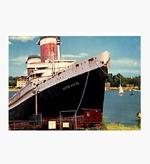 Sayings. 'SS United States Ship in Bembridge Harbour' Photographic Print