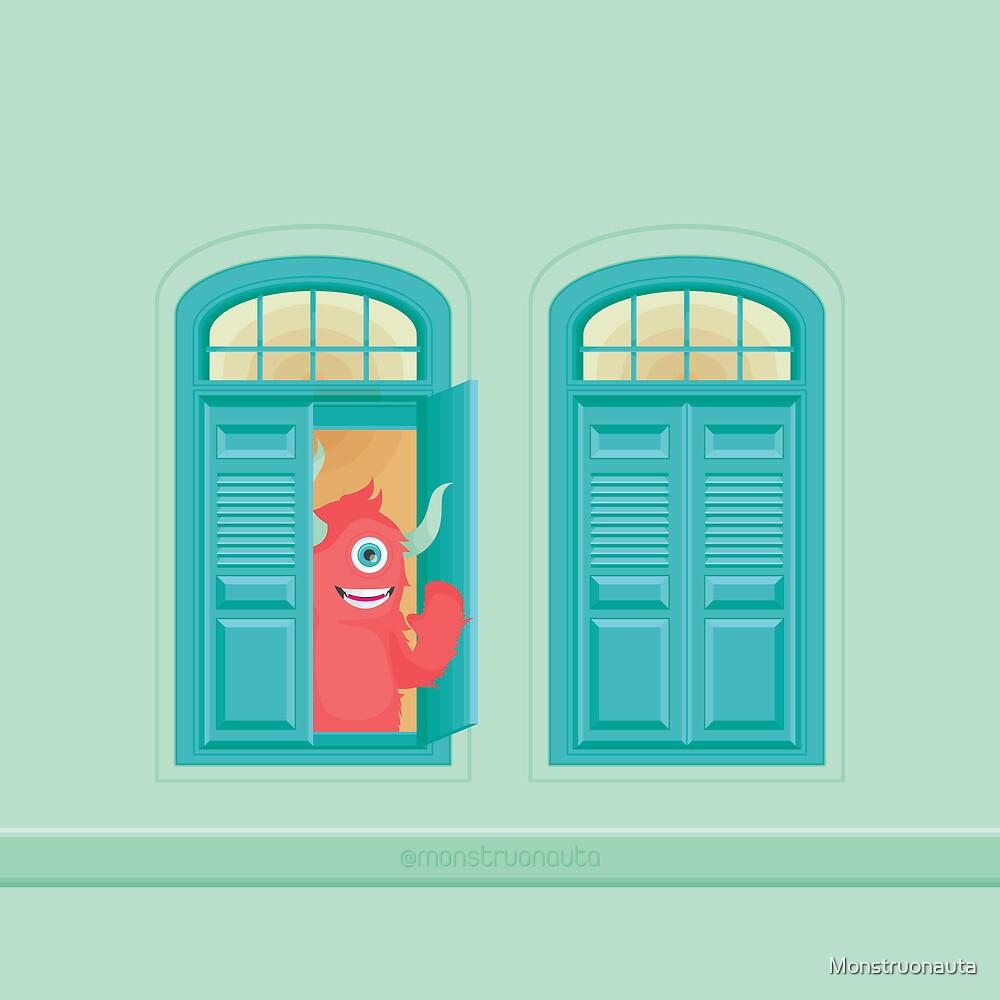¡Hay un monstruo en la ventana! by Monstruonauta