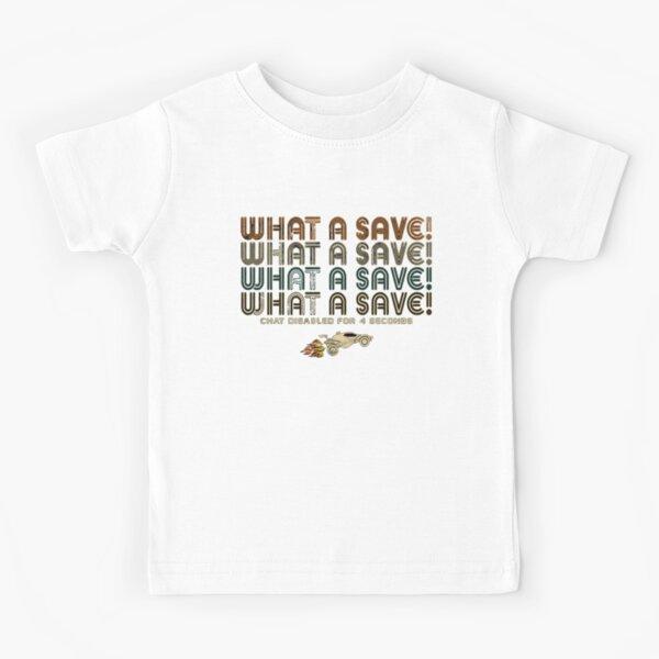 Rocket Car Soccer What a Save Kids T-Shirt