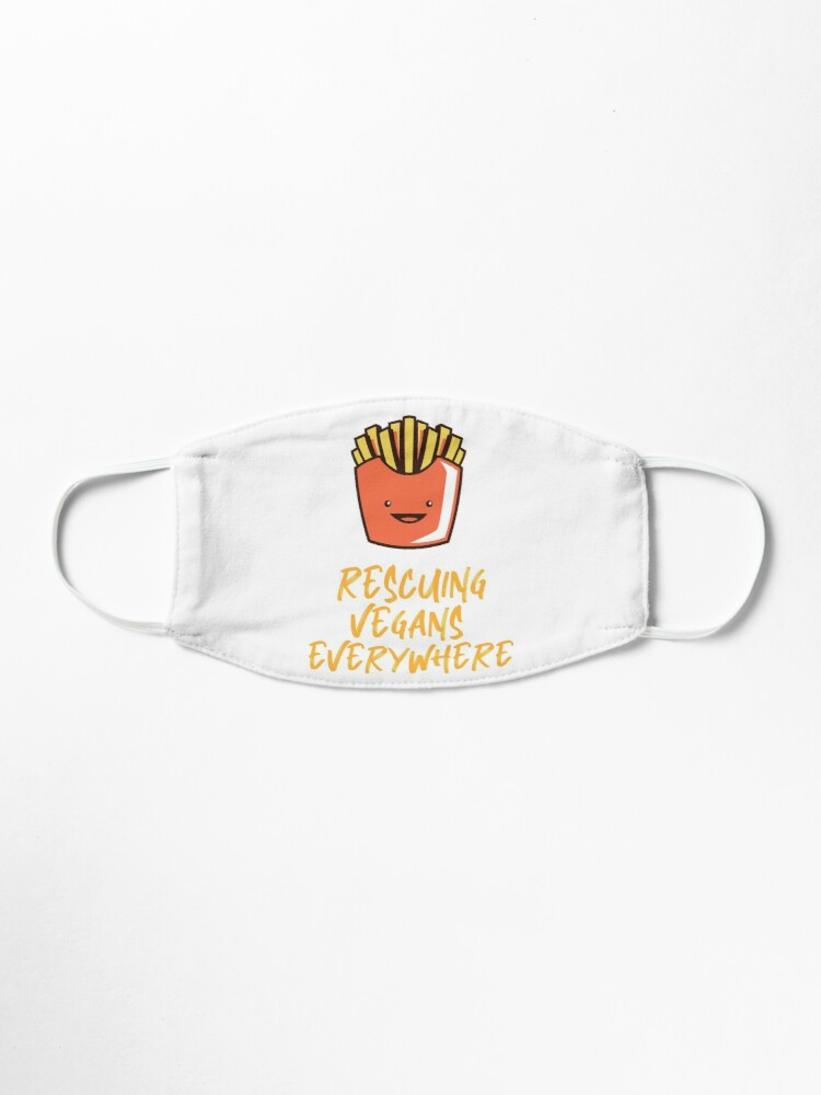 Alternate view of Rescuing Vegans Everywhere with Fries Mask
