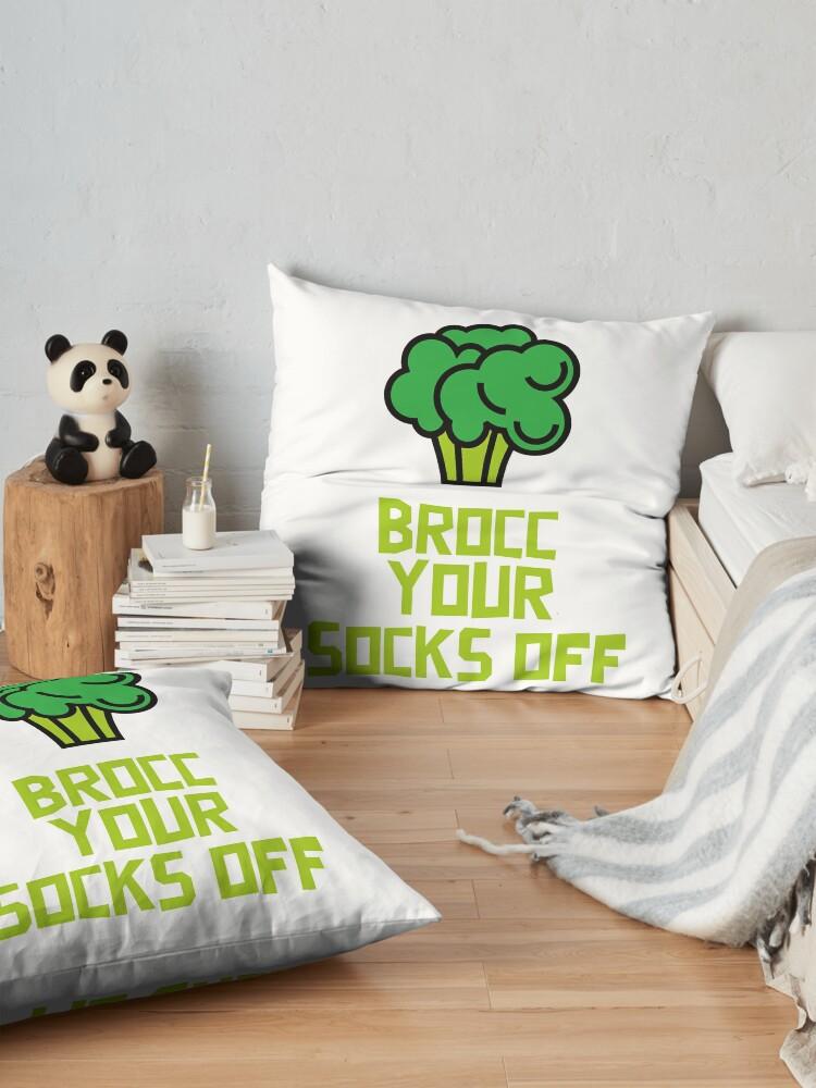 Alternate view of Brocc Your Socks Off Floor Pillow