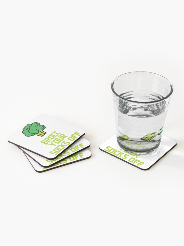 Alternate view of Brocc Your Socks Off Coasters (Set of 4)