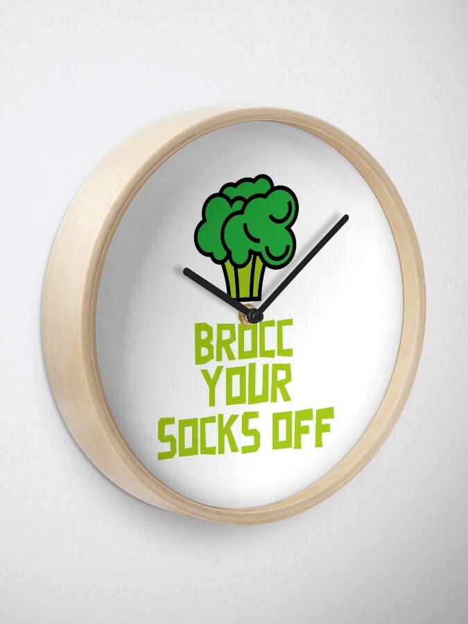 Alternate view of Brocc Your Socks Off Clock