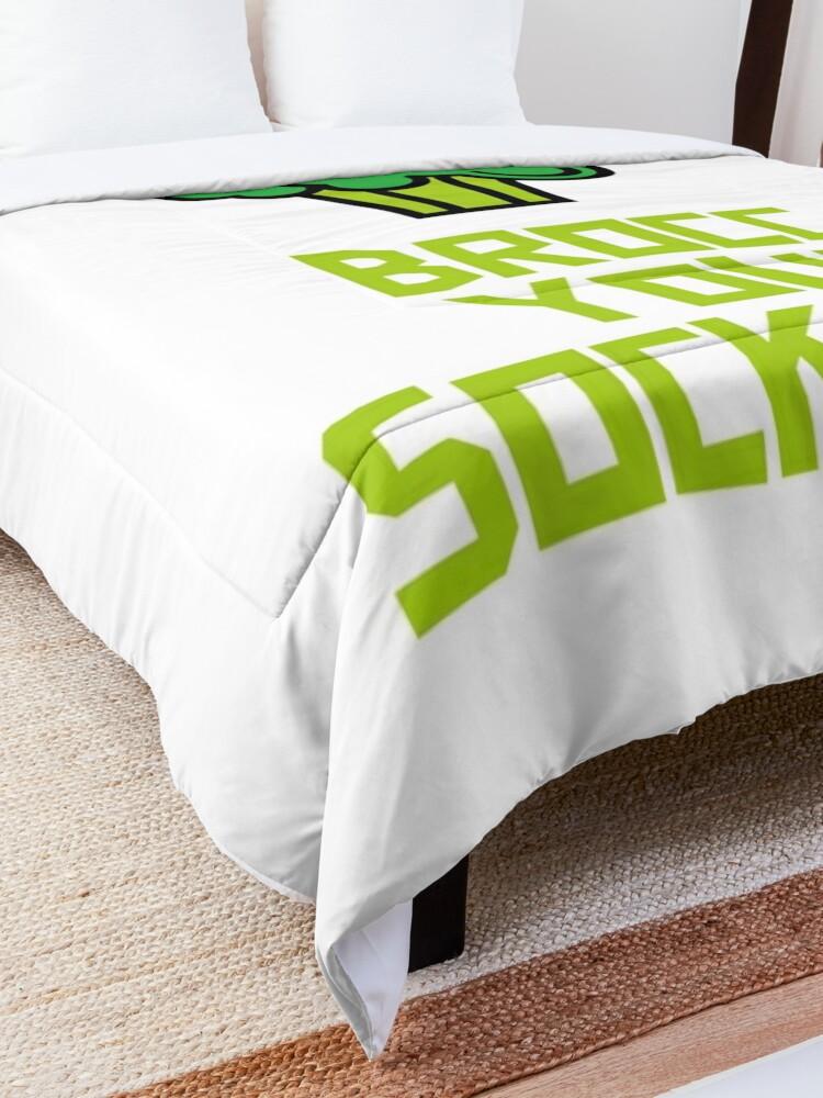 Alternate view of Brocc Your Socks Off Comforter