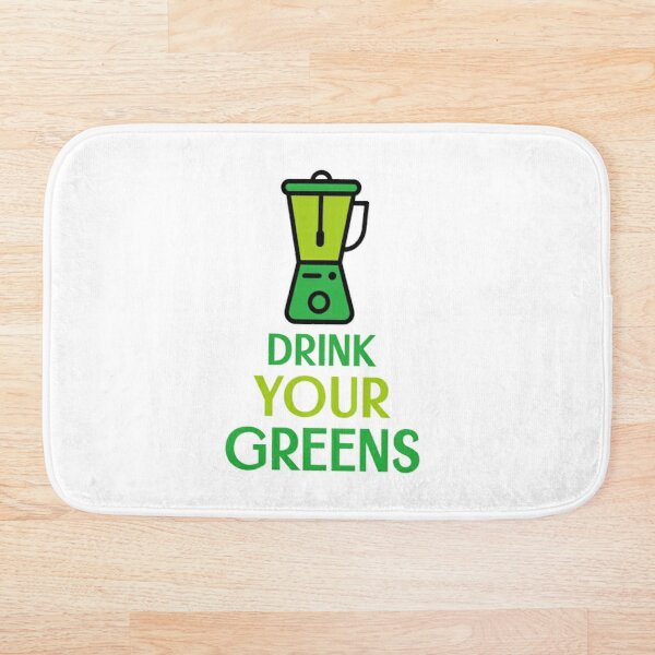 Drink Your Greens Bath Mat
