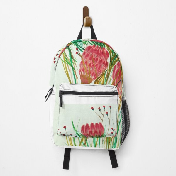 Painted Proteas Flower Backpack
