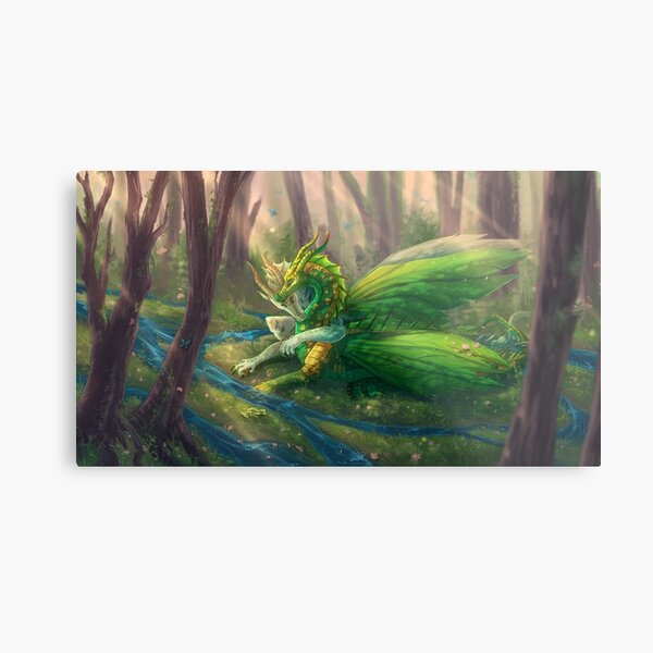 Wings of Fire - Sundew and Willow Metal Print