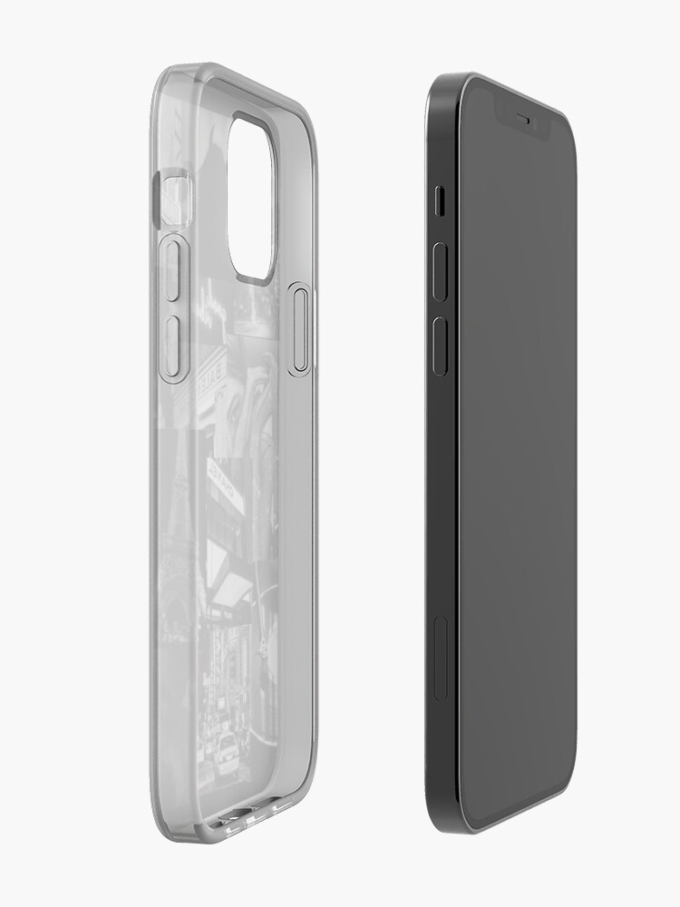 Alternate view of black aesthetic collage iPhone Case & Cover