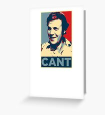 YES WE CANT: Barack Obama styled poster Greeting Card