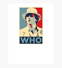 Doctor Who Peter Davison Barack Obama Hope style poster Photographic Print
