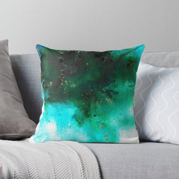 Aqua Haze Throw Pillow