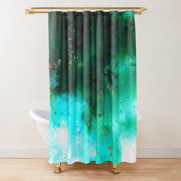 Aqua Haze Shower Curtain