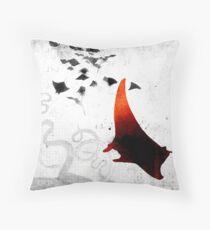 Manta Red Throw Pillow