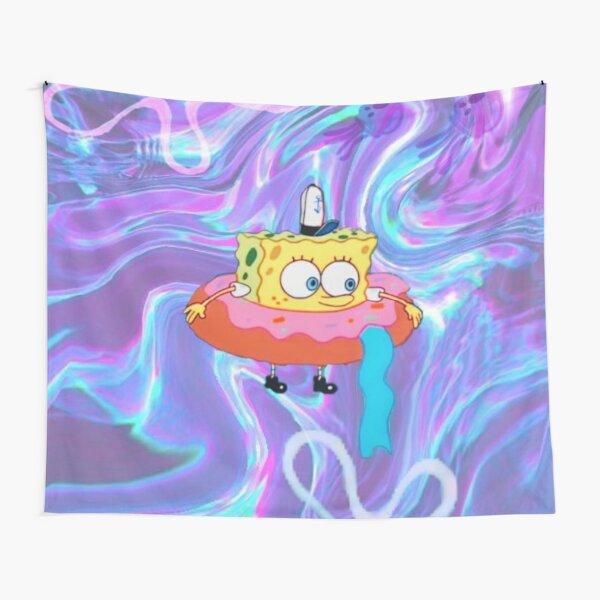 Psychedelic Donut Spongebob Tapestry Tapestry