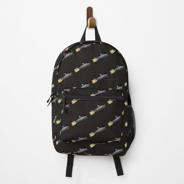 Halloween Shark Witch Hat Broom Backpack