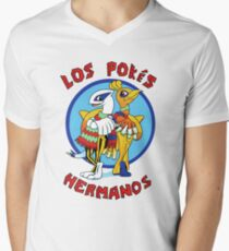 Los Pokés Hermanos Men's V-Neck T-Shirt