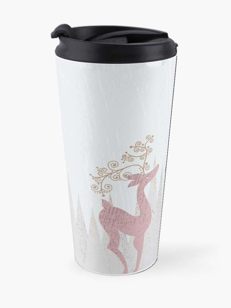 Alternate view of Christmas Deer Travel Mug
