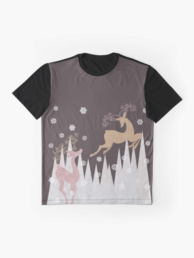 Alternate view of Christmas Deer Graphic T-Shirt