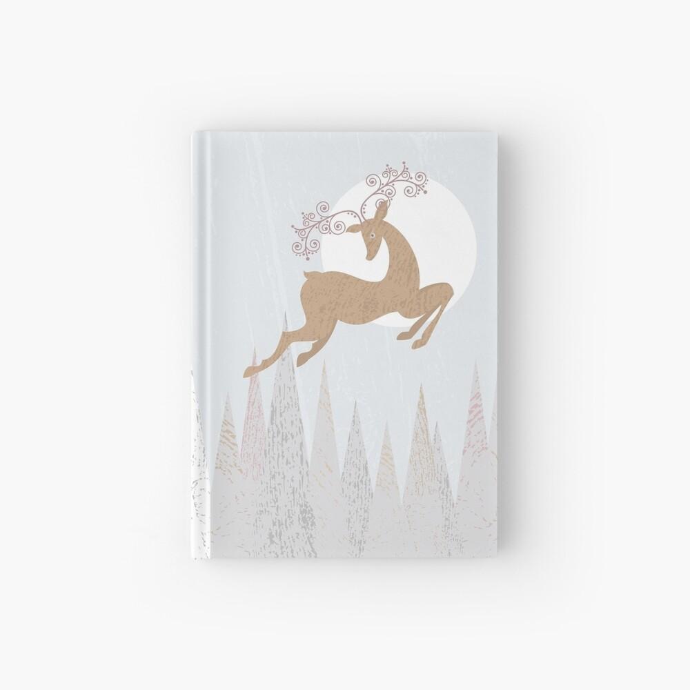 Christmas Deer Hardcover Journal