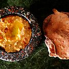 Hummus with Black Olive Crackers by David Mellor
