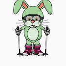 Vegetarian Zombie Ski Bunnies™ : Beez (no logo) by Zero Dean