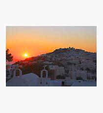 Sunrise Over Pyrgos Photographic Print