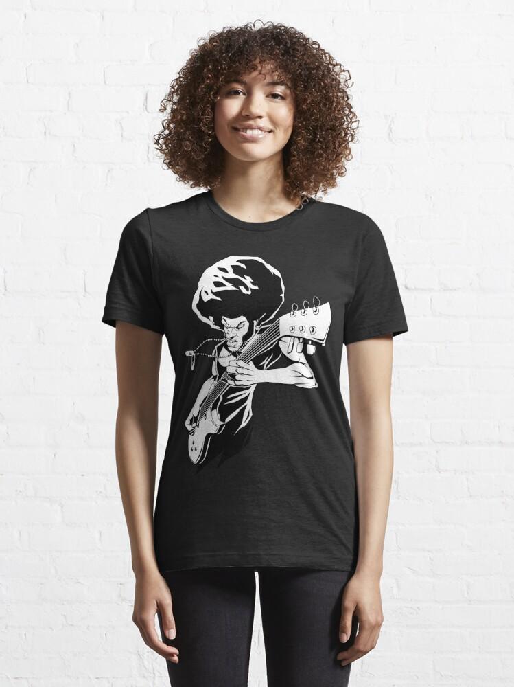 Alternate view of Afro Rock Guitarist Essential T-Shirt