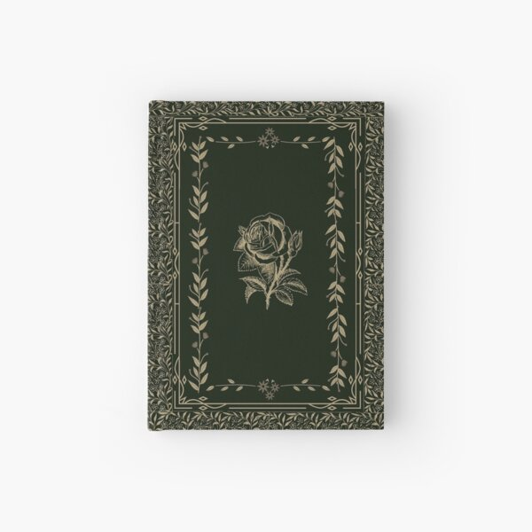 Vintage Rose Grimoire (Green, Gold) Hardcover Journal