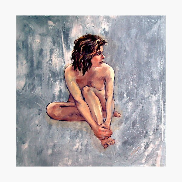 'Lucy' ~ Female nude, oil painting on canvas  Photographic Print