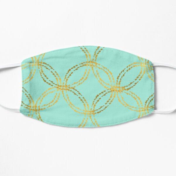 Mint Gold Circles Flat Mask