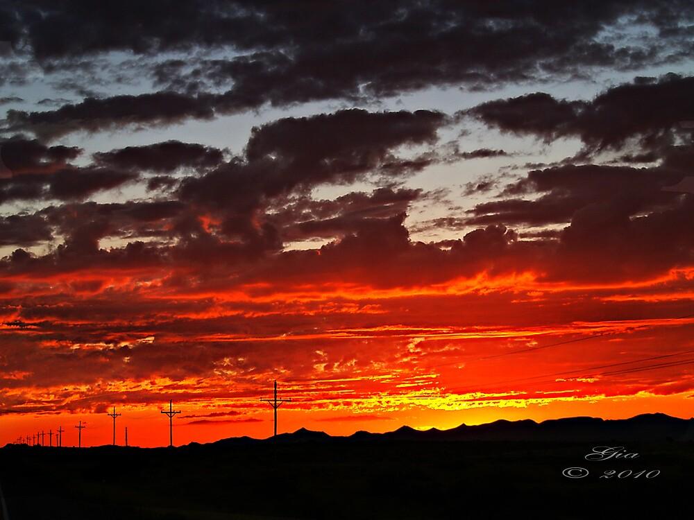 """""""Sunset In Arizona"""" by Gail Jones"""