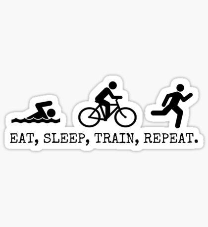 Eat, Sleep, Train, Repeat. Sticker