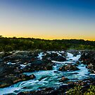 Great Falls- Fall Sunset by Cranemann