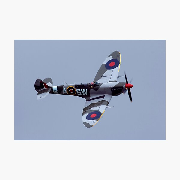 Spitfire flypast Photographic Print