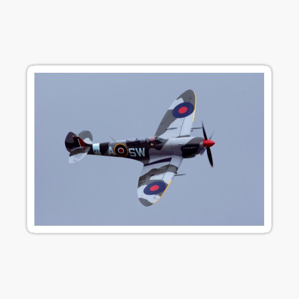 Spitfire flypast Sticker