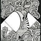 Grandiose, Ink Tree Drawing by Danielle Scott