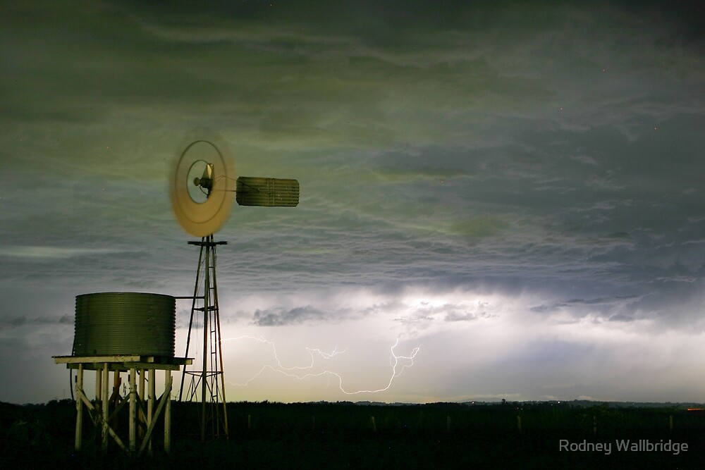 Lightning windmill by Rodney Wallbridge
