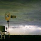 Lightning windmill by Rodney Wallbridge